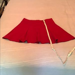 Gap cranberry red circle skirt size L